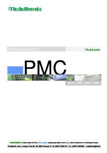 PMC. Systemübersicht 1. Serie 1000, 2000, 3000