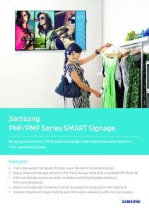 PMF Series SMART Signage