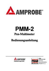 PMM-2. Pen-Multimeter. Bedienungsanleitung. Amprobe Europe GmbH