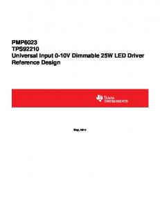 PMP6023 TPS92210 Universal Input 0-10V Dimmable 25W LED Driver Reference Design