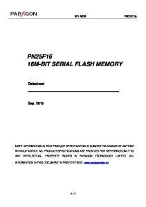 PN25F16 16M-BIT SERIAL FLASH MEMORY