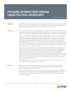 PNC BANK: INTEREST RATE HEDGING UNDER POLITICAL UNCERTAINTY