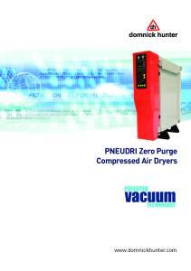 PNEUDRI Zero Purge Compressed Air Dryers