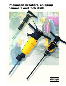 Pneumatic breakers, chipping hammers and rock drills