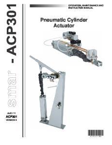 Pneumatic Cylinder Actuator