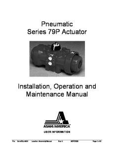 Pneumatic Series 79P Actuator