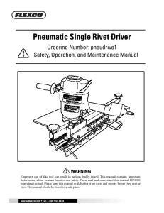 Pneumatic Single Rivet Driver