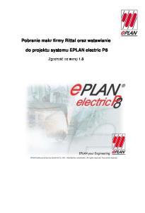 Pobranie makr firmy Rittal oraz wstawianie do projektu systemu EPLAN electric P8