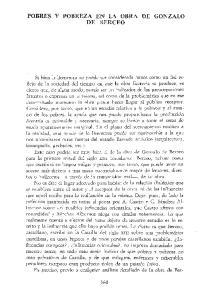 POBRES Y POBREZA EN LA OBRA DE GONZALO DE BERCEO