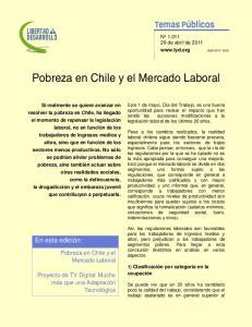Pobreza en Chile y el Mercado Laboral