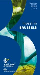 POCKET GUIDE Invest in BRUSSELS. Your partners