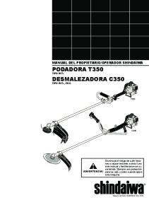 PODADORA T350 TIPO INTL DESMALEZADORA C350 TIPO INTL, EMC