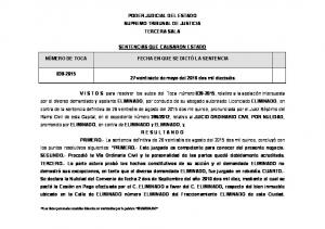 PODER JUDICIAL DEL ESTADO SUPREMO TRIBUNAL DE JUSTICIA TERCERA SALA SENTENCIAS QUE CAUSARON ESTADO