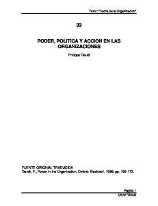 PODER, POLITICA Y ACCION EN LAS ORGANIZACIONES