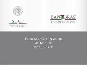 Poderes Otorgados al mes de Abril 2015