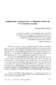 PODEROSOS Y TIRANOS EN LA PRIMERA PARTE DE EL ZAPATERO Y EL REY