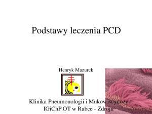 Podstawy leczenia PCD