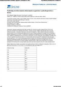 Podstawy monitorowania utlenowania organizmu i pulsoksymetria u