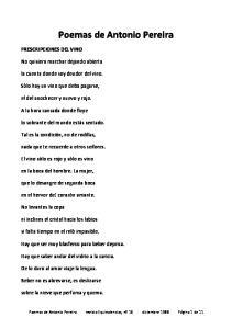 Poemas de Antonio Pereira