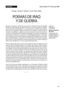 POEMAS DE IRAQ Y DE GUERRA