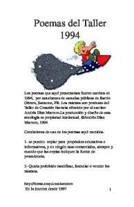 Poemas del Taller 1994
