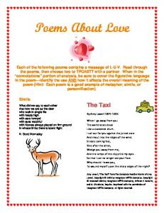Poems About Love. The Taxi