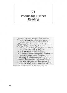 Poems for Further Reading