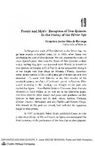 Poetry and Myth: Reception of Don Quixote In the Poetry of the Silver Age
