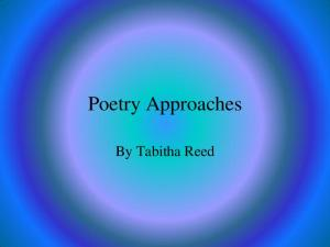Poetry Approaches. By Tabitha Reed