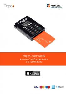 Pogo> User Guide for iphone, ipad and ipod touch General Merchants