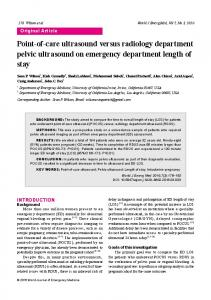 Point-of-care ultrasound versus radiology department pelvic ultrasound on emergency department length of stay