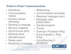 Point-to-Point Communications