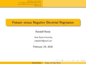 Poisson versus Negative Binomial Regression
