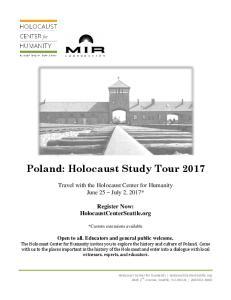 Poland: Holocaust Study Tour 2017
