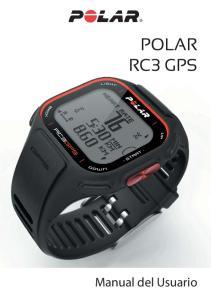 POLAR RC3 GPS. Manual del Usuario