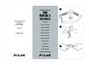 Polar WearLink 31 CODED TRANSMITTER. User Manual. Gebrauchsanleitung. Manuel d'utilisation. Gebruiksaanwijzing. Manuale dell utente