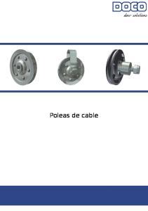 Polea Para Cable. Unidad: 1 pieza Peso: 0,13 kg Material: Acero zincado plateado