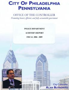 POLICE DEPARTMENT AUDITOR S REPORT FISCAL