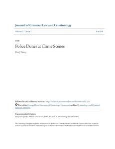 Police Duties at Crime Scenes