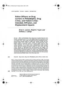 Police Officers on Drug Corners in Philadelphia, Drug Crime, and Violent Crime: Intended, Diffusion, and Displacement Impacts