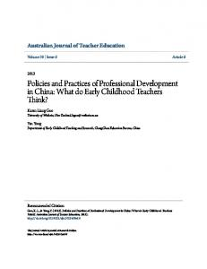 Policies and Practices of Professional Development in China: What do Early Childhood Teachers Think?