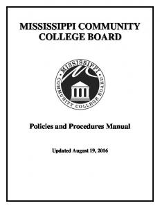 Policies and Procedures Manual