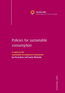 Policies for sustainable consumption