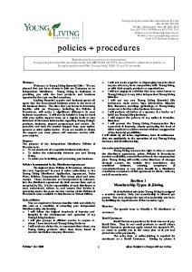 policies + procedures