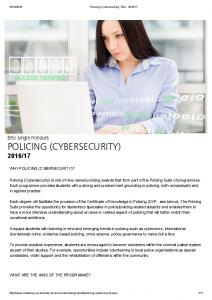 POLICING (CYBERSECURITY)