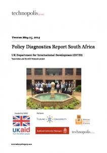Policy Diagnostics Report South Africa