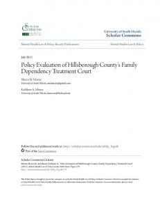 Policy Evaluation of Hillsborough County s Family Dependency Treatment Court