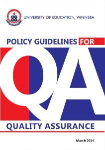POLICY GUIDELINES FOR