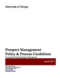 Policy & Process Guidelines