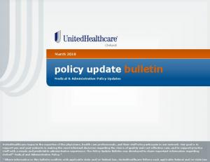 policy update bulletin